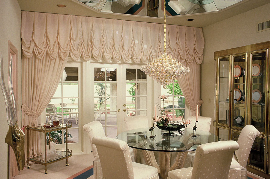 designer interior design living room curtains chandelier